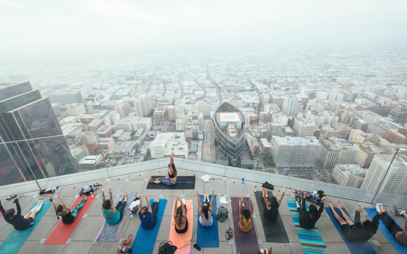 Skyscraper Yoga Offers Breathtaking Views Of L A Los Angeles Magazine