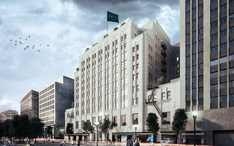 Image result for Rendering of The Trust Building by Rising Realty Partners.