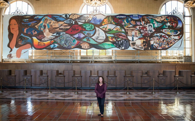 One Of L A S Most Iconic Chicano Murals Is Being Displayed In A Museum For The First Time Ever Los Angeles Magazine