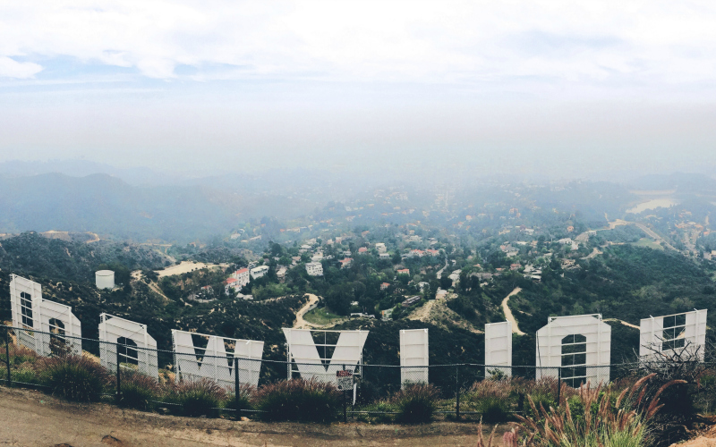hollywood sign from behind most photogenic places in la best instagram spots los angeles