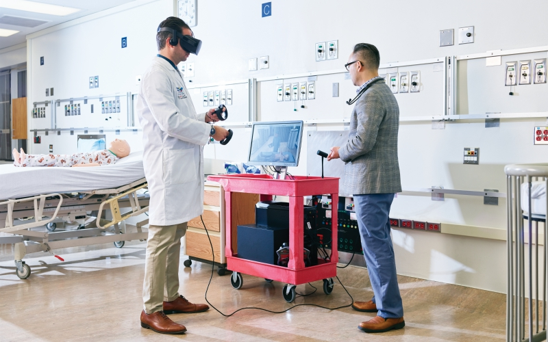 How an L A  Hospital Is Using Virtual Reality to Prep Staff for High