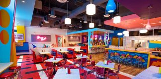 saved by the bell pop-up diner saved by the max los angeles chef brian fisher interior