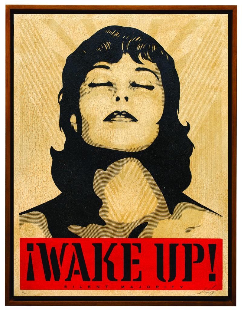Shepard Fairey art for mental health awareness event WE RISE