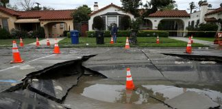 Los Angeles rough streets potholes buckled sidewalks sinkholes city council resurfacing