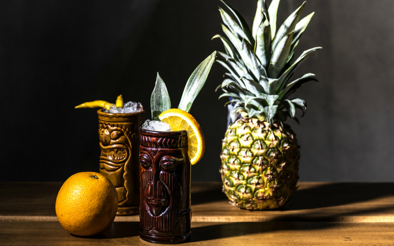 tiki-mugs-for-tiki-cocktails-with-pineapple