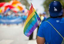 West Hollywood Pride LA parade marcher