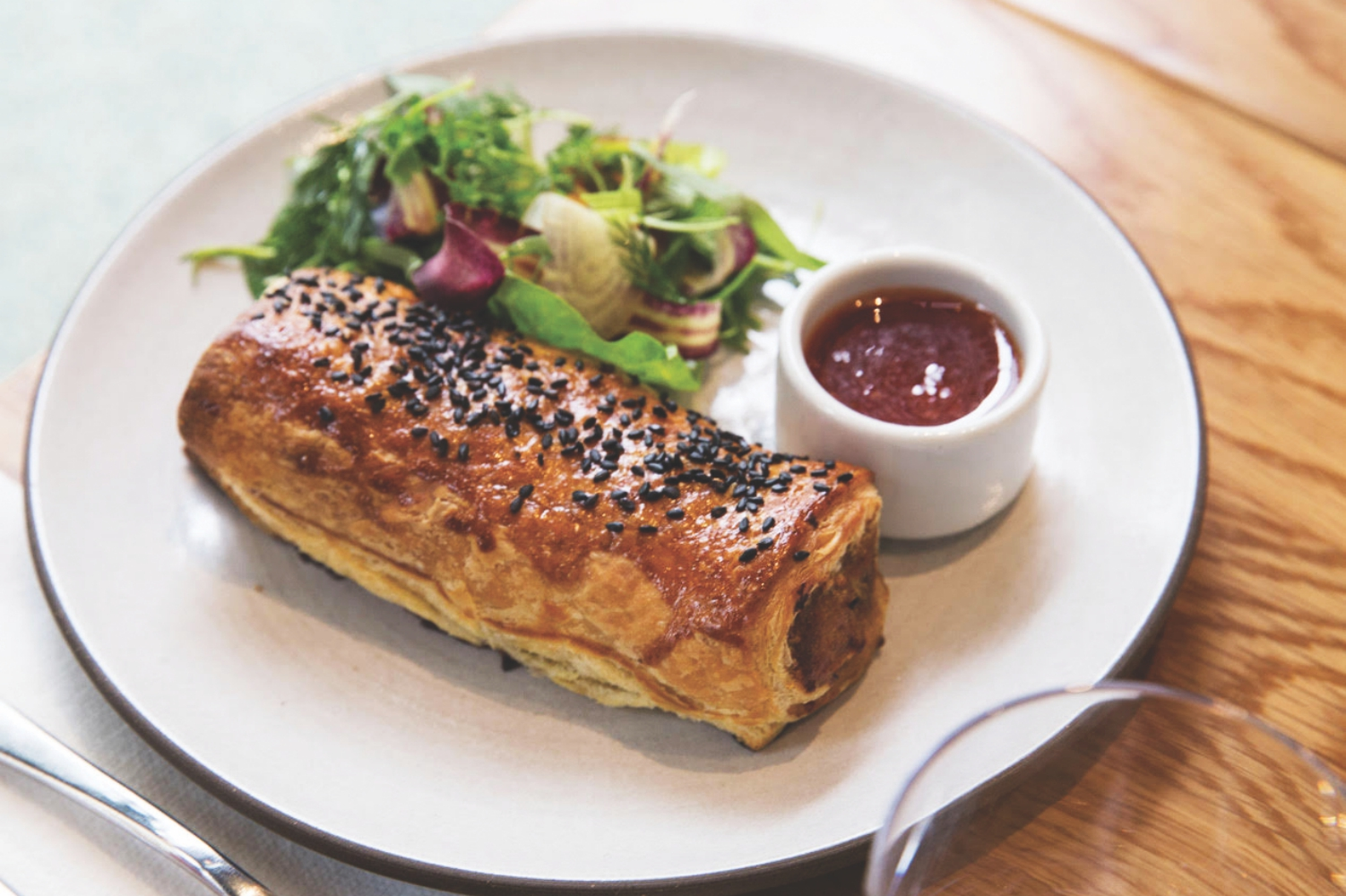 paramount coffee project dtla sausage roll
