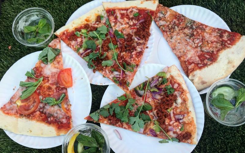 Vagabond Vieiras Vegan Pizza vegan hard vegan playground los angeles