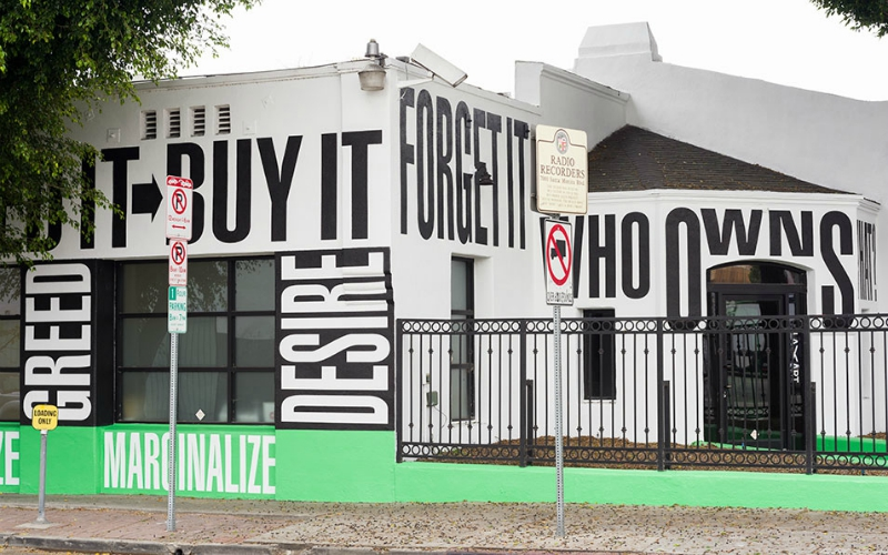 barbara kruger new mural hollywood laxart 2018