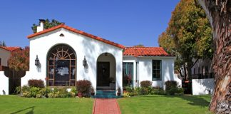 buy a house in la house los angeles stucco mission style home