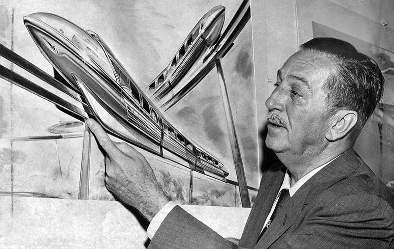 disneyland monorail walt disney 1958