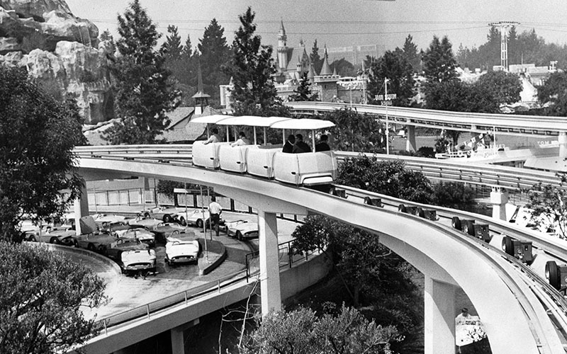 peoplemover disneyland 1967 california transportation disney