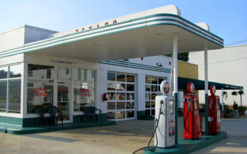 vintage gas station vintage la texaco