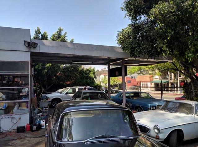 vintage gas station texaco los angeles retro