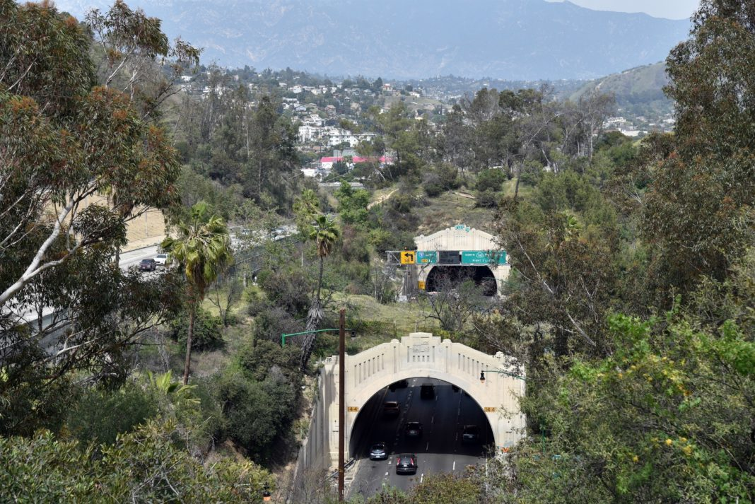 110 freeway arroyo seco parkway los angeles traffic history