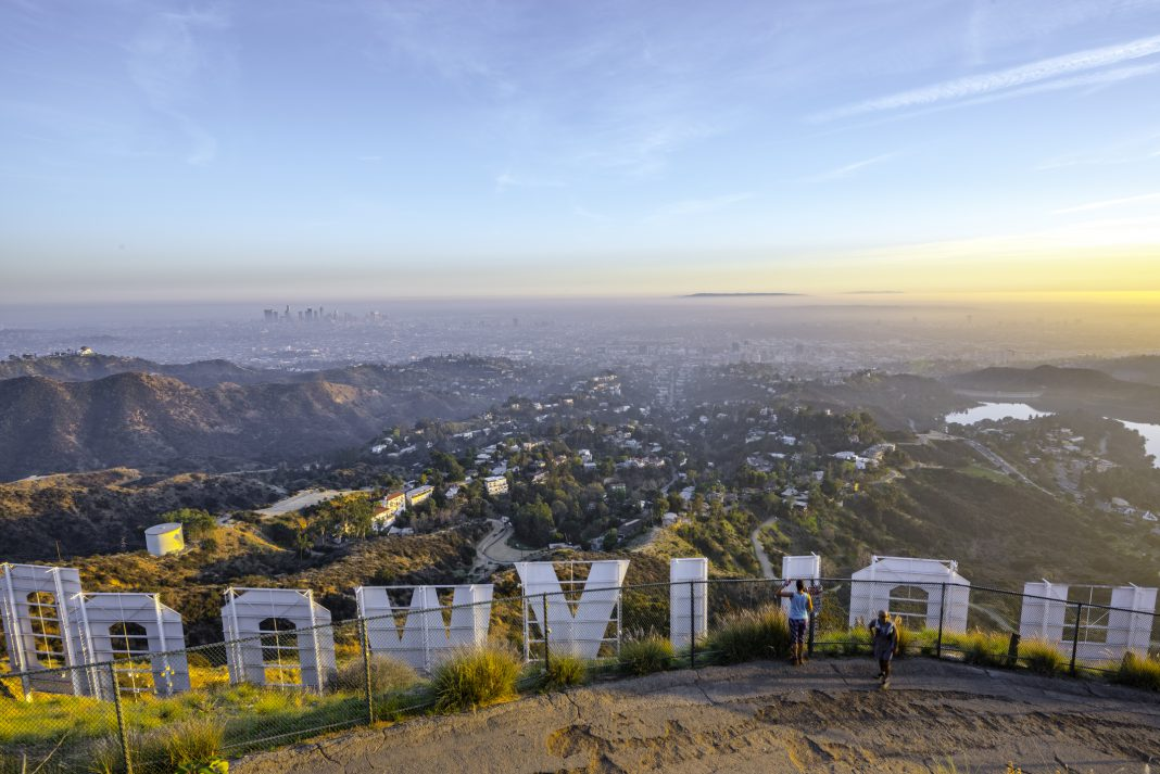 los angeles place names hollywood sign sunset