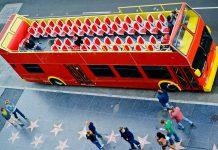 double-decker open-air bus los angeles public transit
