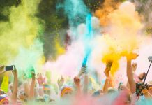 best things to do in LA in september color run