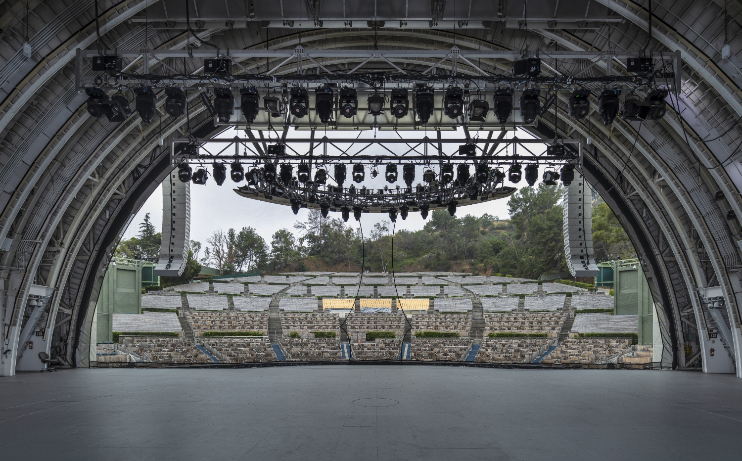 hollywood bowl from stage photo