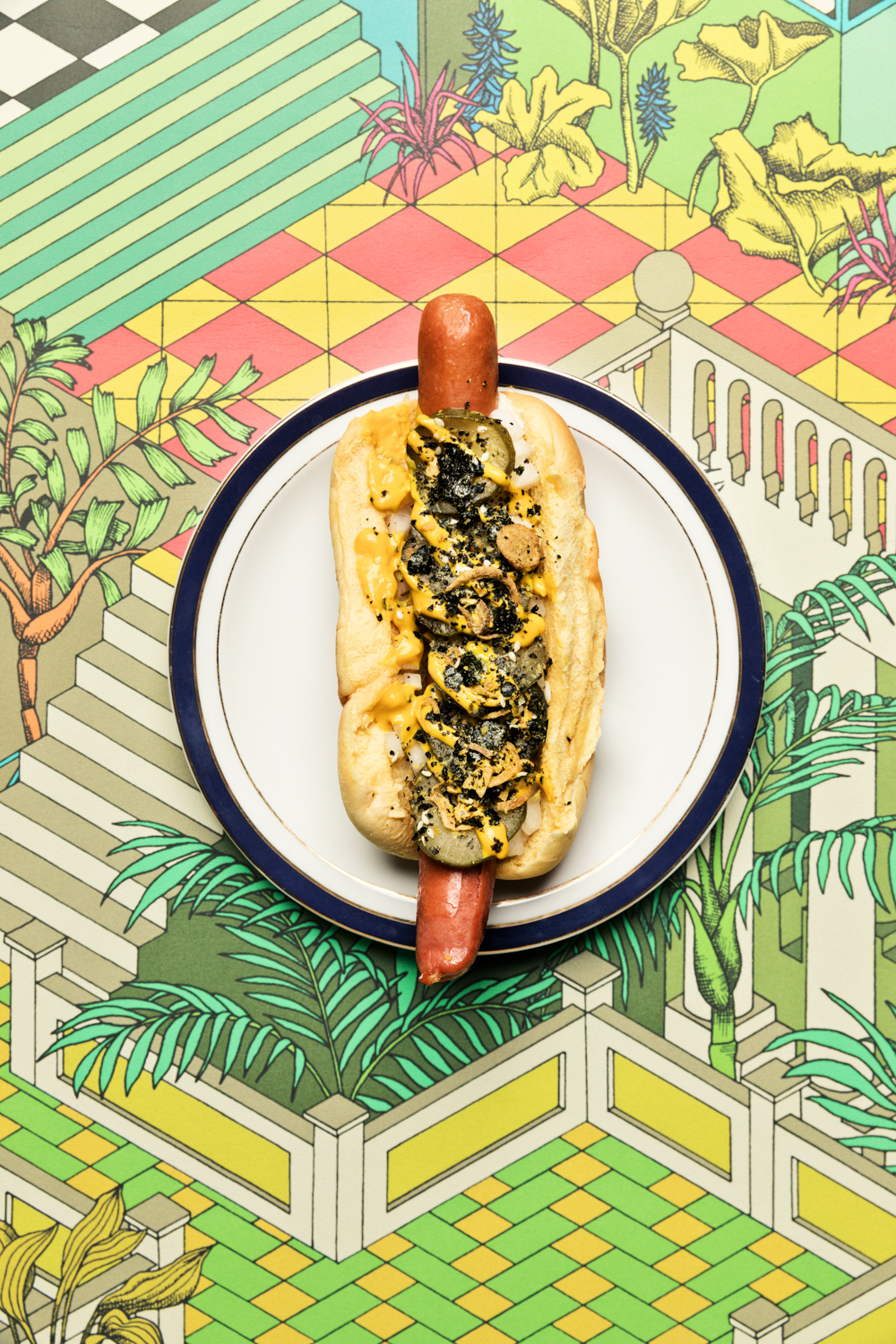 hatch chile hot dog