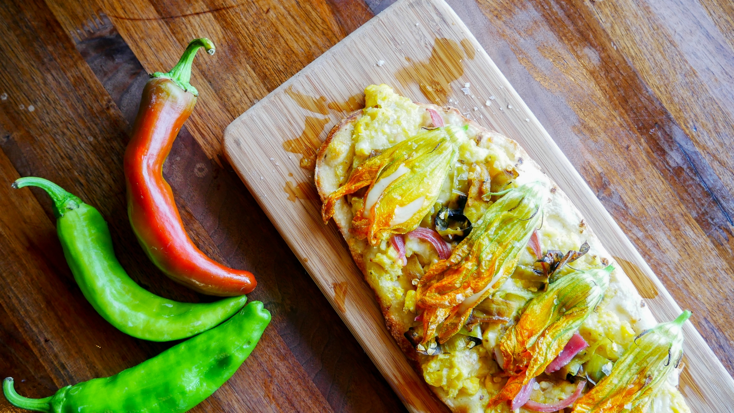 hatch chiles flatbread