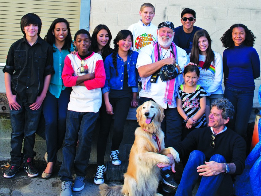 Eyes On The Future: Fashion photographer Bruce Weber (center) shot Eisner and a group from YES last year for an Oliver Peoples ad. The high-end eyewear designer donates glasses to the program