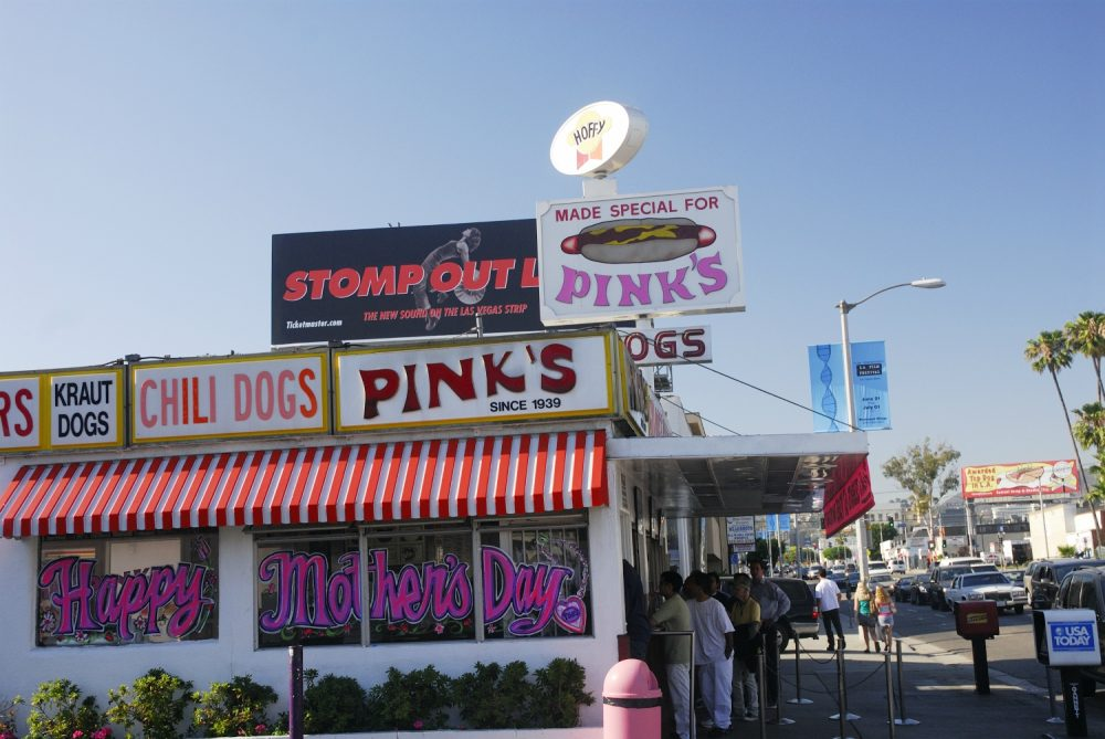 pink's hot dogs pink's square los angeles