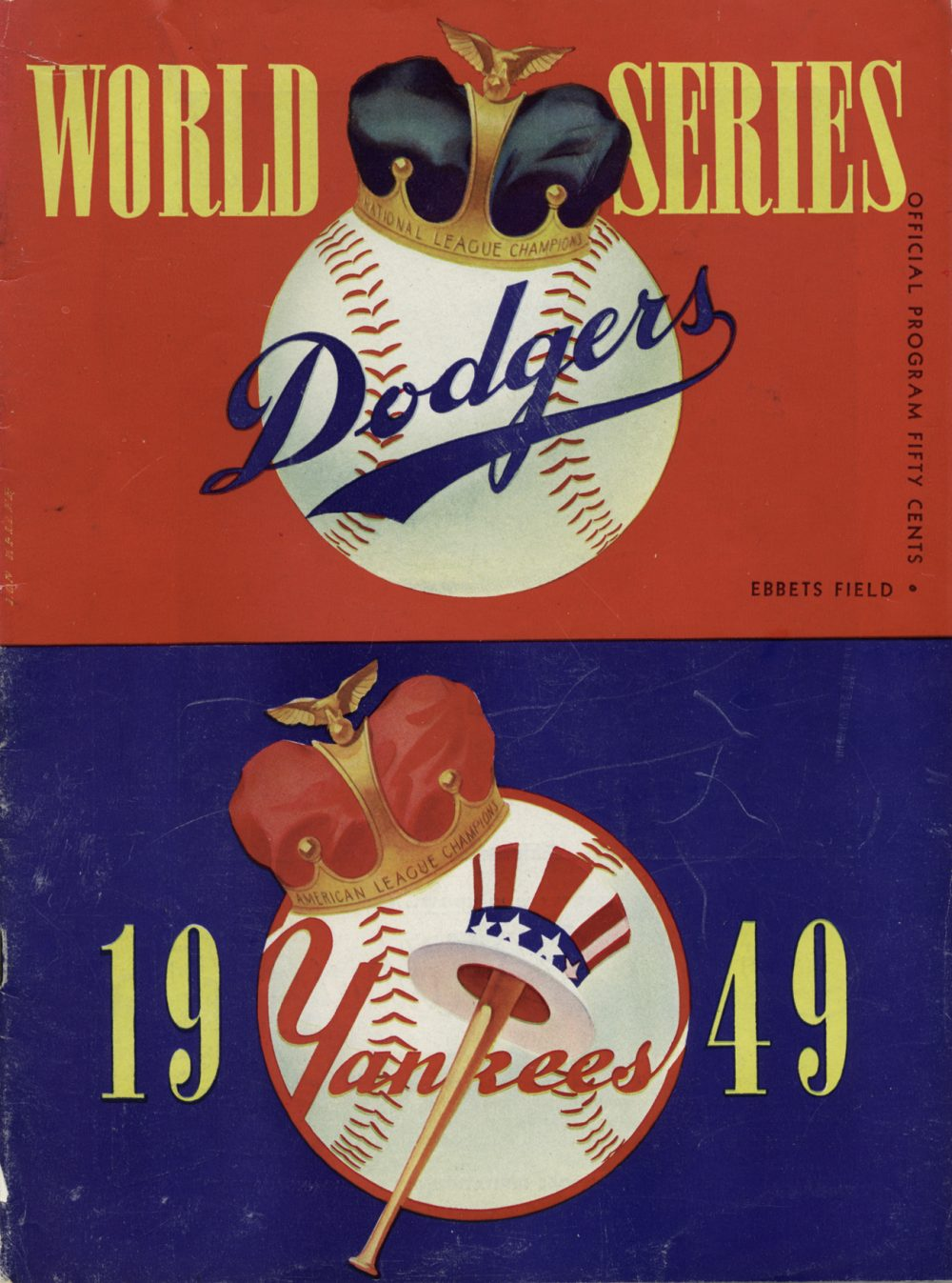 world series dodgers 1949 vintage retro baseball
