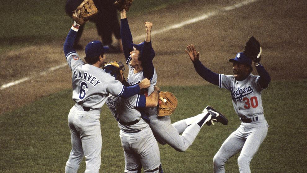 world series dodgers 1981 vintage retro baseball