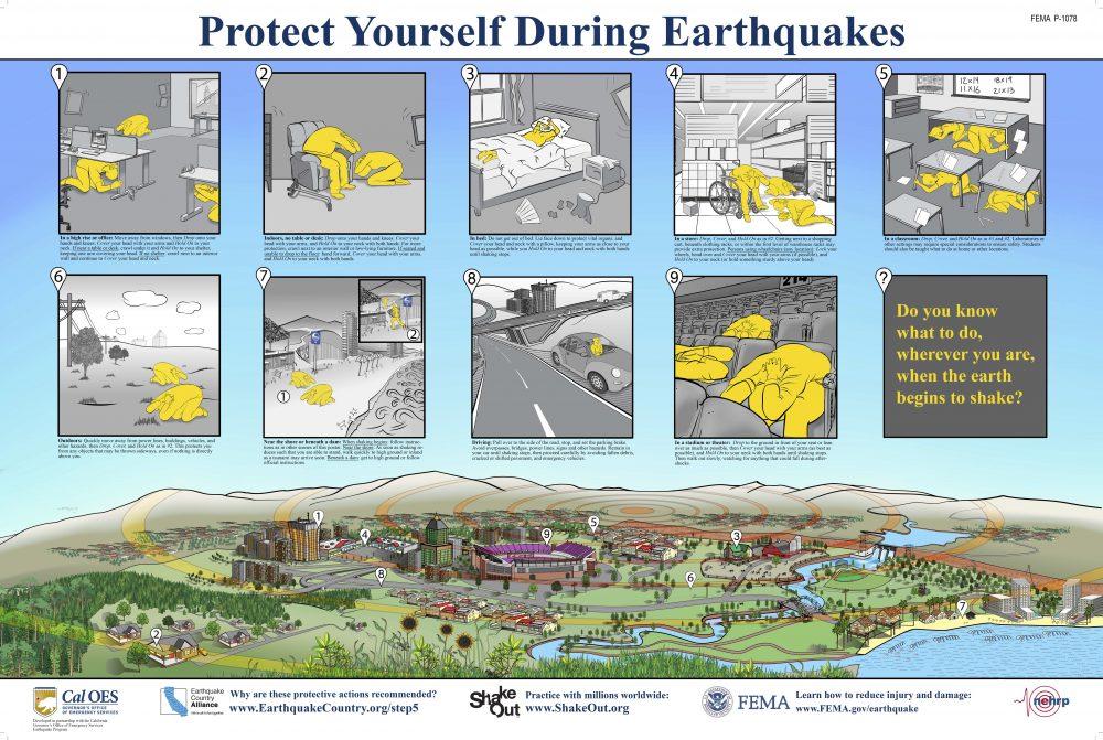 shakeout earthquake prepare drill