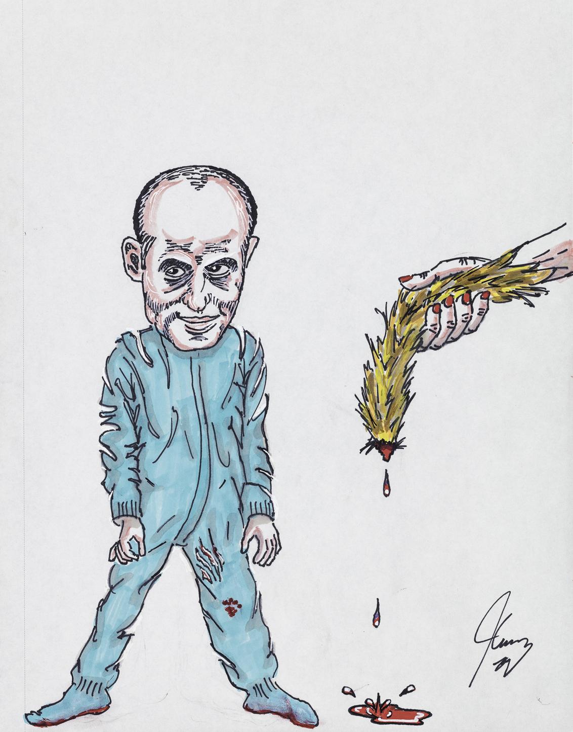 jim Carrey political art los angeles