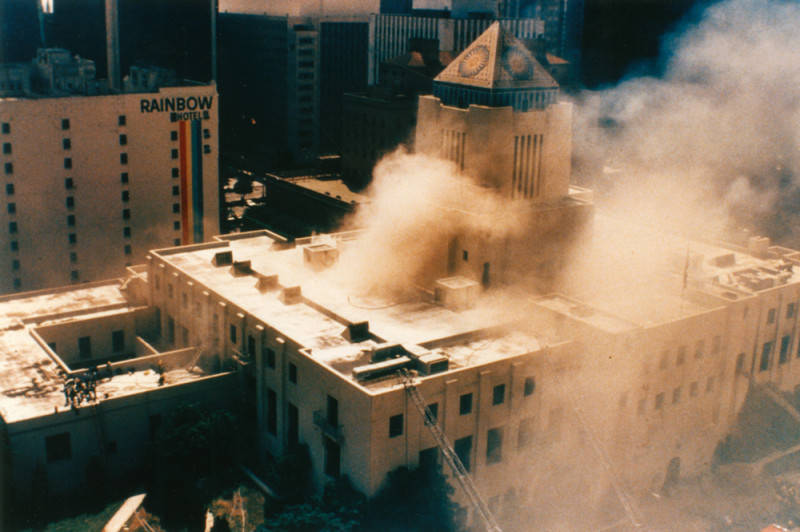 los angeles public library fire