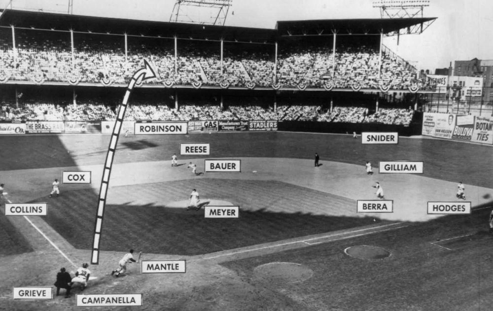 world series dodgers 1953 vintage retro baseball