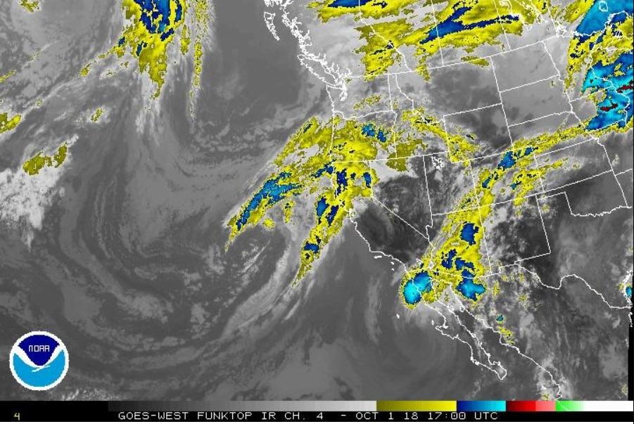 Tropical Storm Rosa to cross the Baja California Peninsula