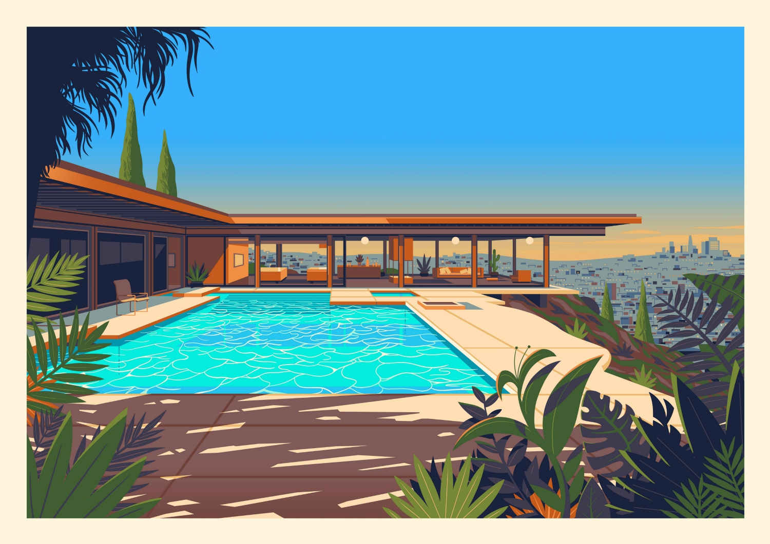 These Colorful Illustrations of L.A. Landmarks Celebrate the City's Architectural Gems