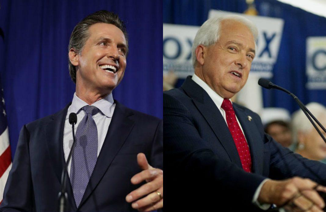 newsom cox debate gavin newsom john cox california governor race