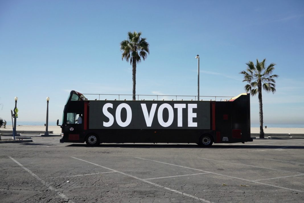 jenny holzer vote bus