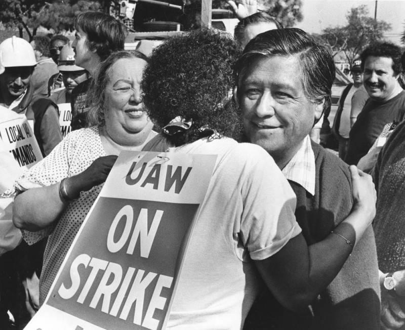 cesar chavez uaw strike