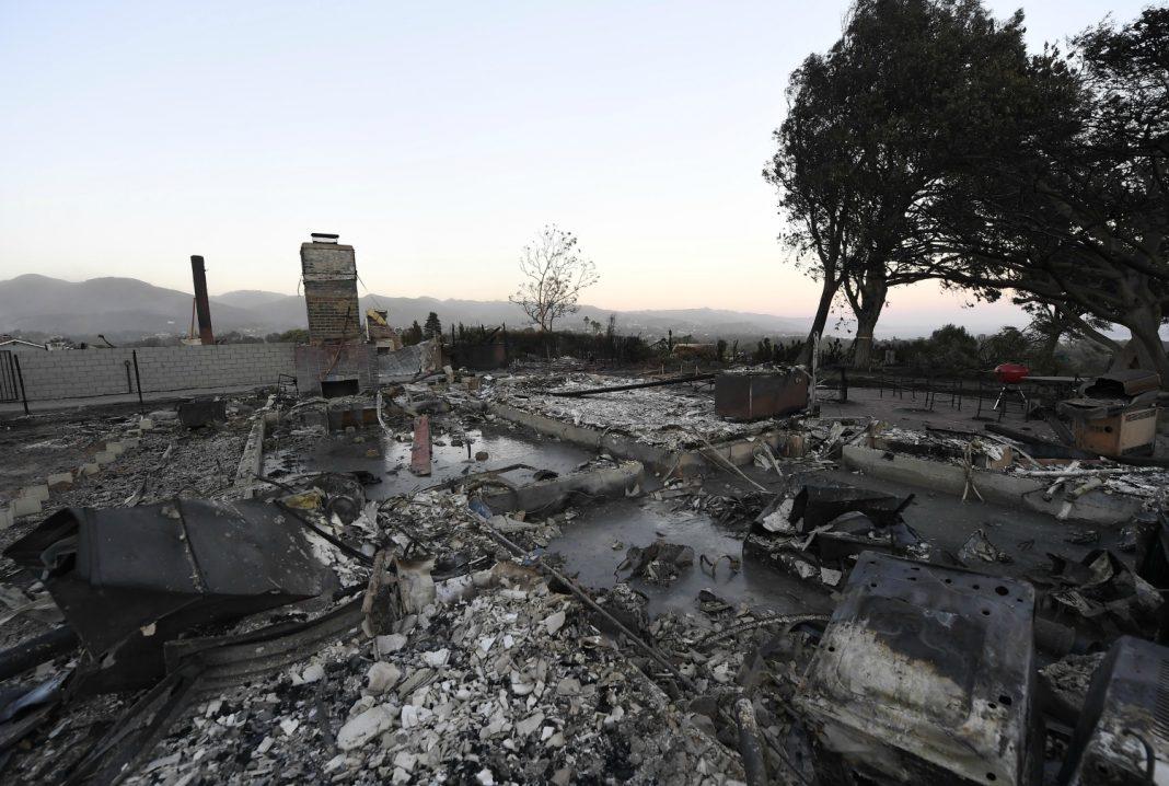 woolsey fire debris aftermath