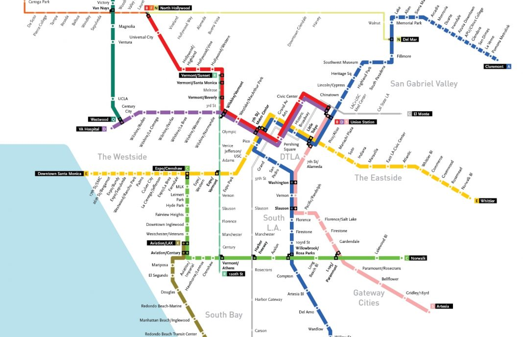 Metro La Map Maps Juxtapose L.A. Transit in 1926 and What It Could Look Like