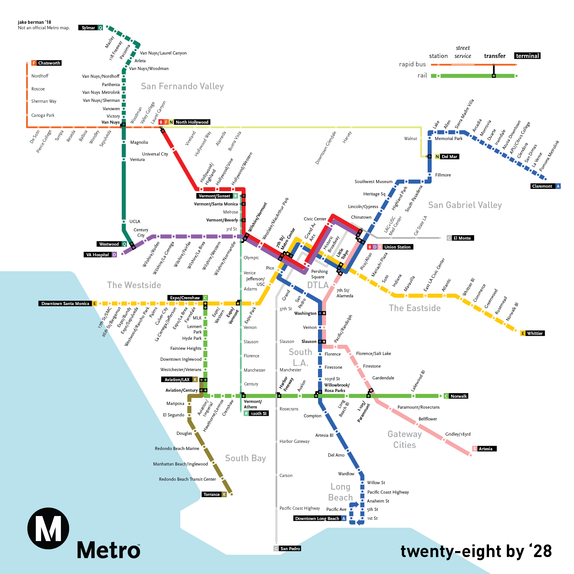 Maps Juxtapose L A Transit In 1926 And What It Could Look Like 102