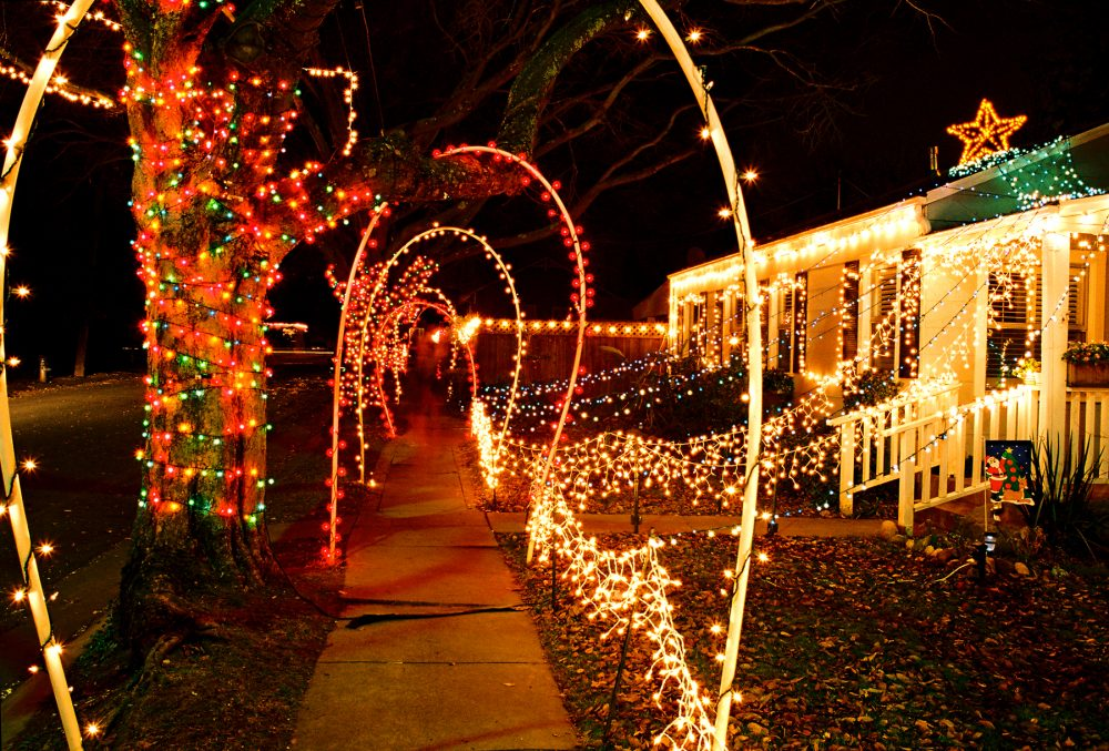 Christmas Lights Hanging In Fishers