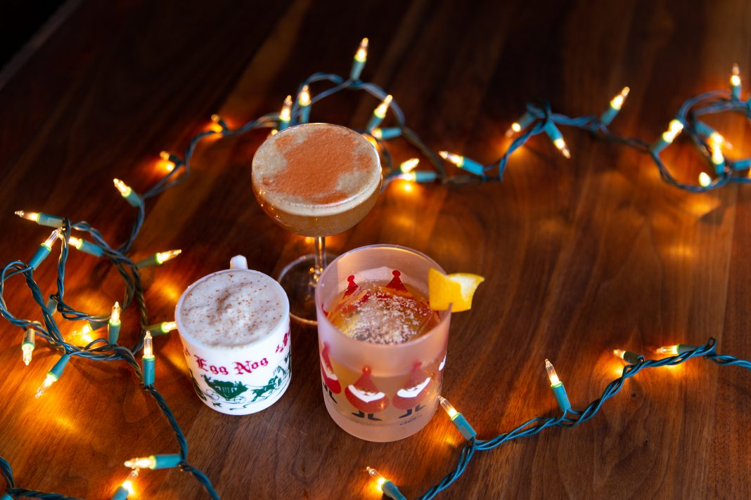 christmas bar blitzen here and now egg nog holiday cocktail
