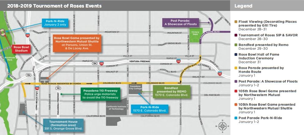 rose parade route map