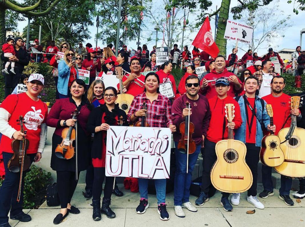 los angeles teachers strike mariachi band