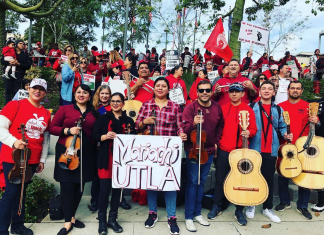 los angeles teachers strike mariachi band