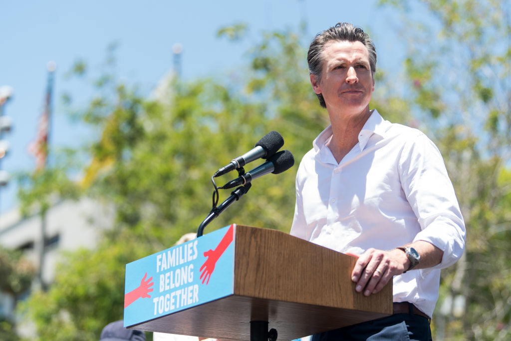 gavin newsom california end stay at home national guard border state of the state address