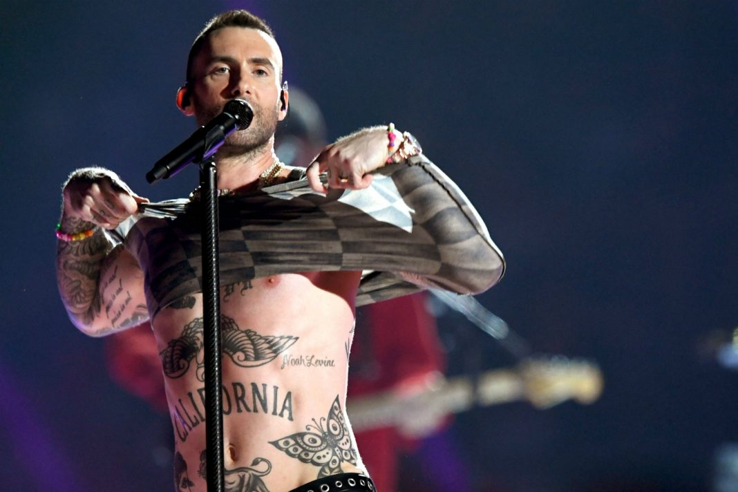 adam levine nipples protest