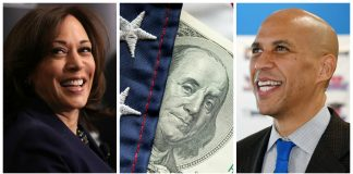 hollywood money 2020 race kamala harris cory booker elizabeth warren
