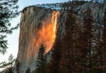 yosemite firefall horsetail falls